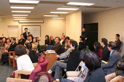 Attendees of the Buy Korean book signing event at Adroit College